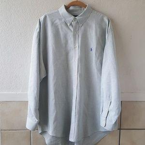 Ralph Lauren men's button up plaid dress shirt 18